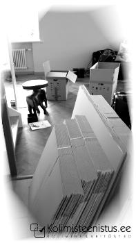 Kolimisteenus, kastid, pakkematerjalid